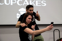 Johnny Cupcakes poses for a selfie with event organizer Megan Myhaver