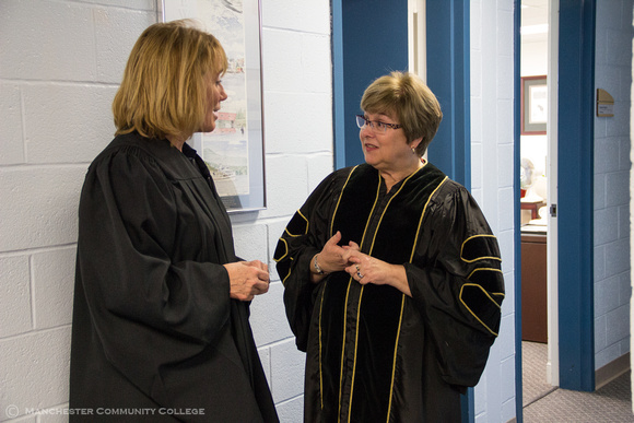Governor Maggie Hassan and MCC President Susan Huard discuss Convocation.