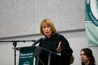 Governor Hassan addresses the crowd at Convocation.